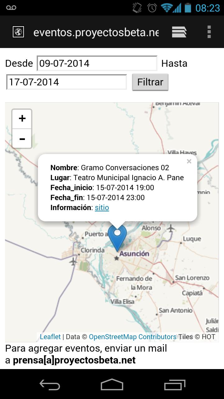 eventos.proyectosbeta.net soporta dispositivos móviles