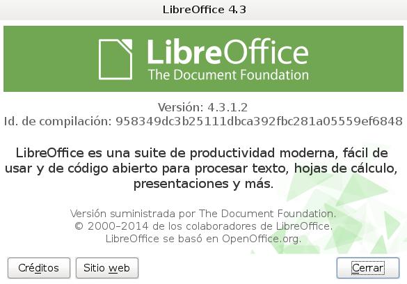 LibreOffice 4.3.1 en Debian Wheezy