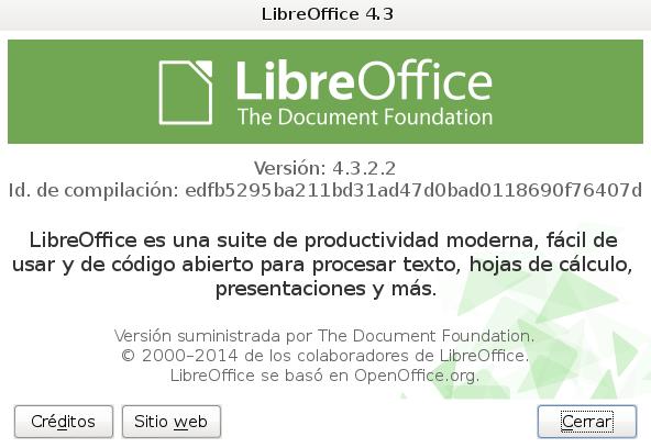 LibreOffice 4.3.2 en Debian Wheezy