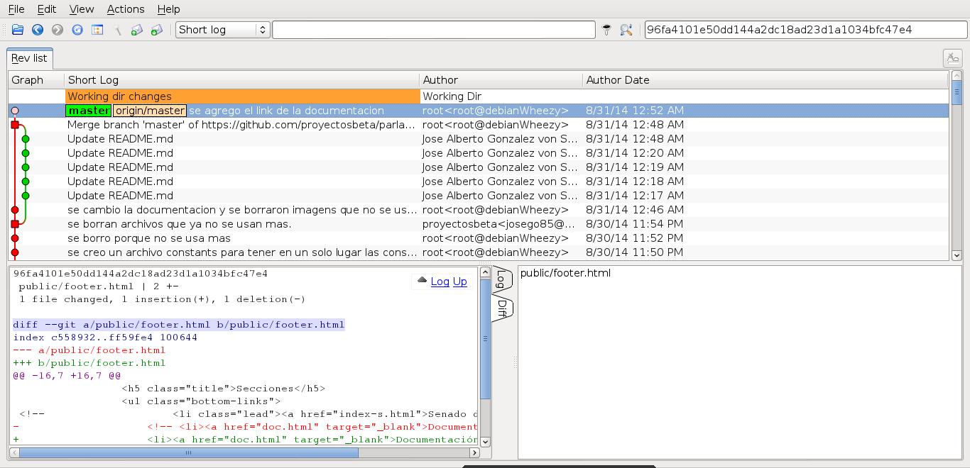 QGit en Debian Wheezy