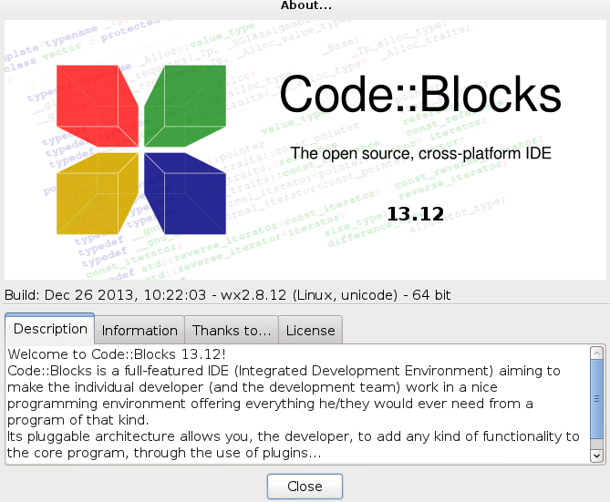 Code Blocks 13.12.1 en Debian Wheezy