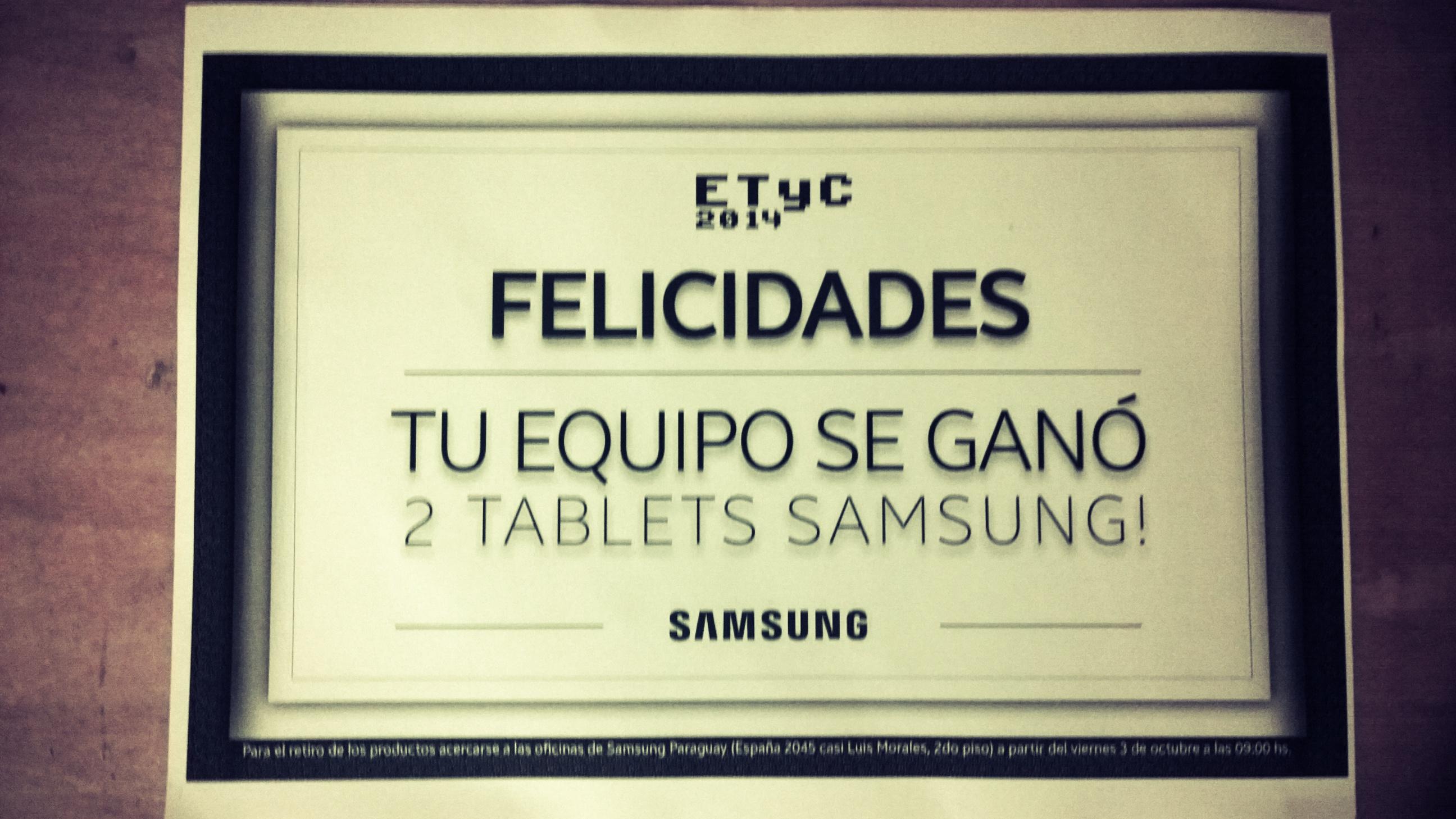 Ganadores del desafío Samsung - Linda Experiencia  - 2014