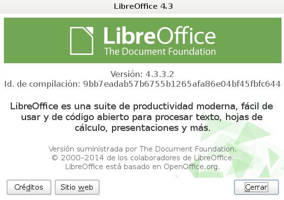 LibreOffice 4.3.3 en Debian Wheezy