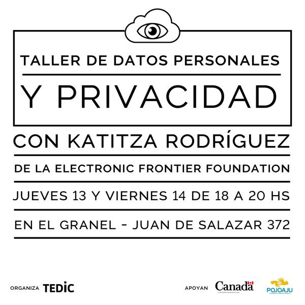 Taller de Datos Personales y Privacidad en Internet