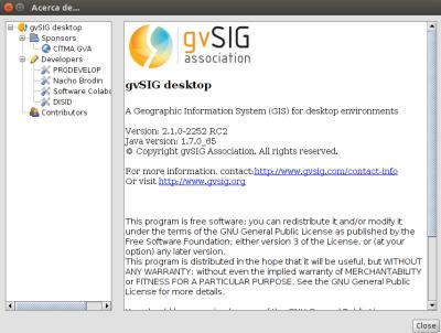 gvSIG 2.1 RC2 en Ubuntu 14.04 LTS