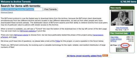 Buscador de Torrents de Internet Archive