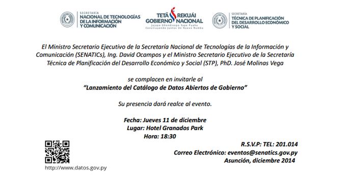 SENATICs lanza Catálogo de Datos Abiertos del Gobierno