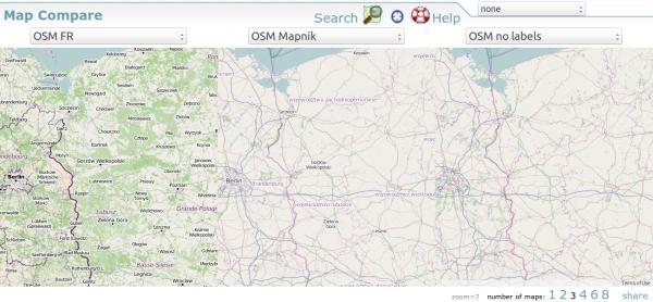 Diferentes mapas OSM para comparar
