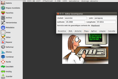 Fotoxx 15.01 en Ubuntu 14.10