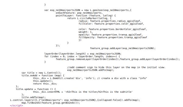 Código fuente del mapa que usa Leaflet