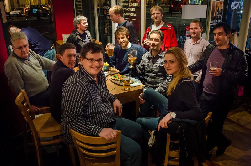 El tercer tiempo en una de las mini mapping parties llevadas a cabo en verano de 2013 en Londres.
