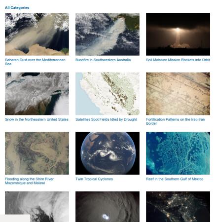 Imágenes raster de la NASA