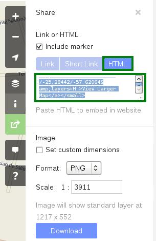 Seleccionamos HTML para obtener el código html