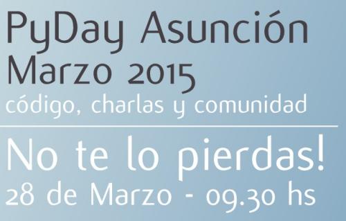 28 de Marzo 2015 PyDay Asunción