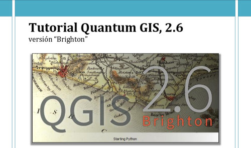 Tutorial sobre QGIS 2.6