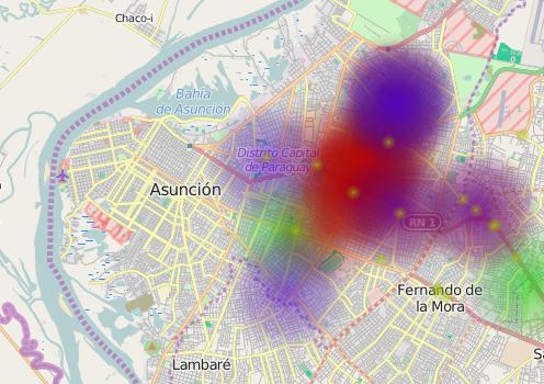Heat Map Asunción