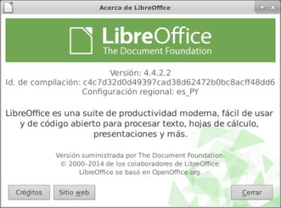 LibreOffice 4.4.2 en Ubuntu 14.10