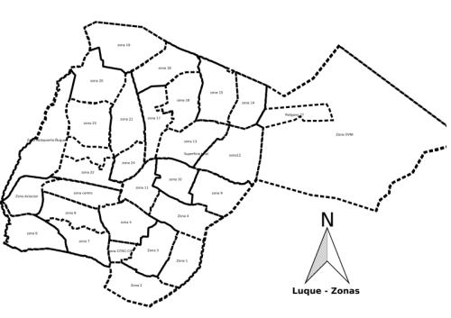 Se dividió en varias zonas Luque