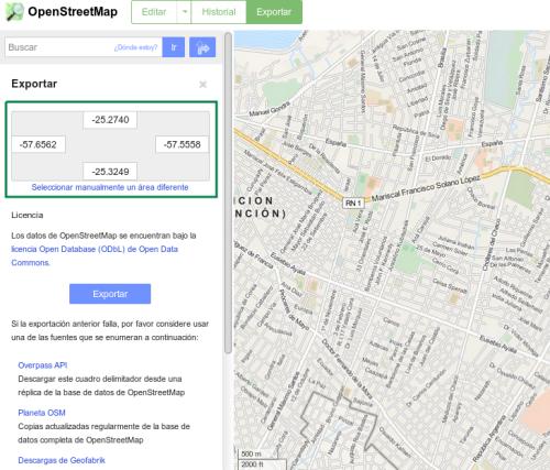 Obtener Boounding Box de una parte de Asunción