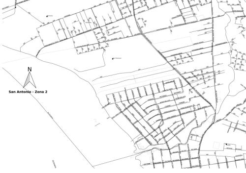 Mapa impreso San Antonio