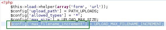 Cambiar el número para el nombre de archivo al usar la clase Upload de CodeIgniter