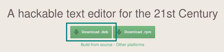Descargar ATOM para Debian Jessie