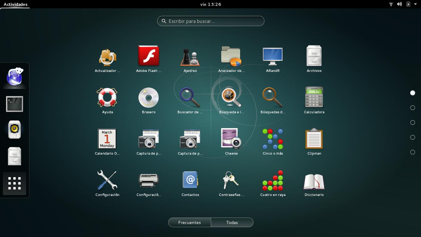 Gnome3 en Debian Jessie