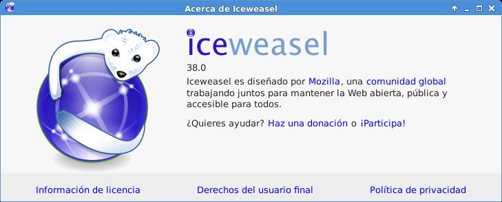 Iceweasel en Debian Jessie