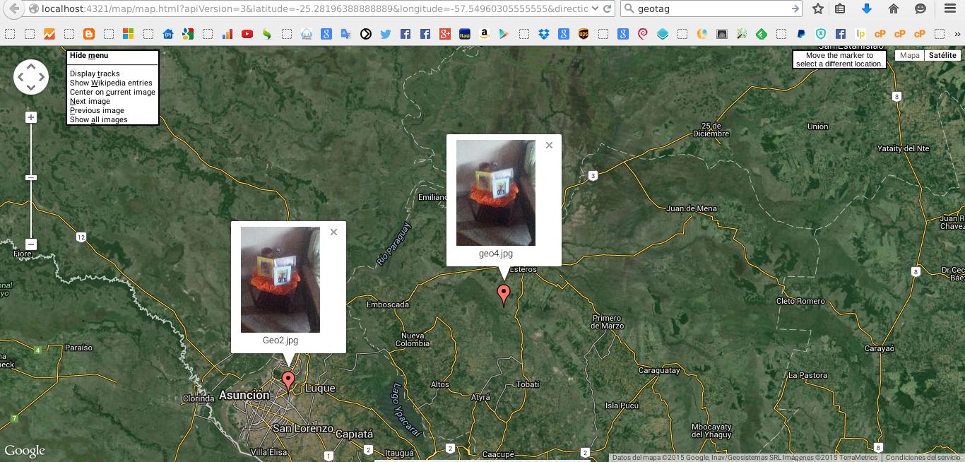 Visualizar en Google Maps fotos