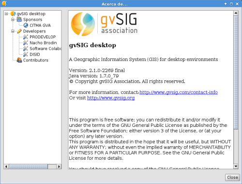 gvSIG 2.1 en Debian Jessie de 64 bits
