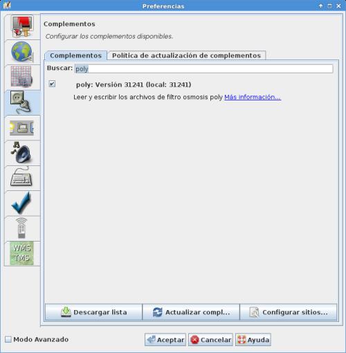 Instalar plugin poly en JOSM