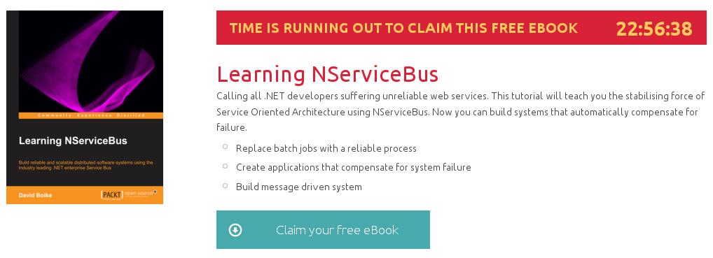 """""""Learning NServiceBus"""", ebook gratuito de @packtpub disponible durante las próximas 22 horas"""