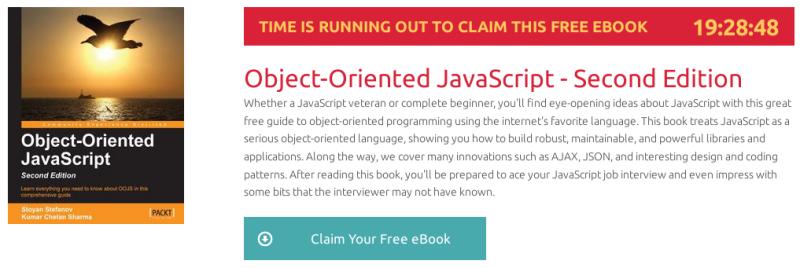 """""""Object-Oriented JavaScript - Second Edition"""", ebook gratuito de @packtpub disponible durante las próximas 19 horas"""
