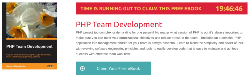 """PHP Team Development"", ebook gratuito de @packtpub disponible durante las próximas 19 horas"