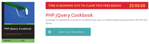 PHP jQuery Cookbook, ebook gratuito de packtpub disponible durante las próximas 23 horas