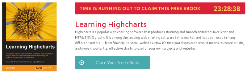 Learning Highcharts, ebook gratuito de packtpub disponible durante las próximas 23 horas