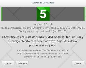 LibreOffice 5.0.1 en Debian Jessie