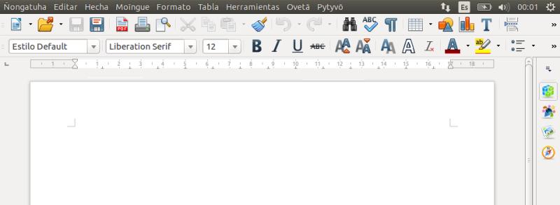 LibreOffice en Guaraní
