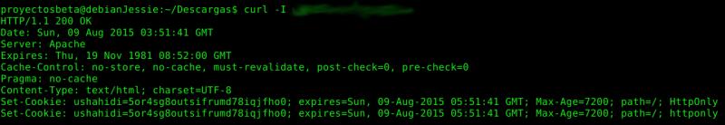 No muestra información de php