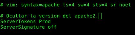 Ocultar la versión de apache2 en Ubuntu Server 14.04LTS