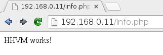 Usando php con HHVM en Debian Jessie