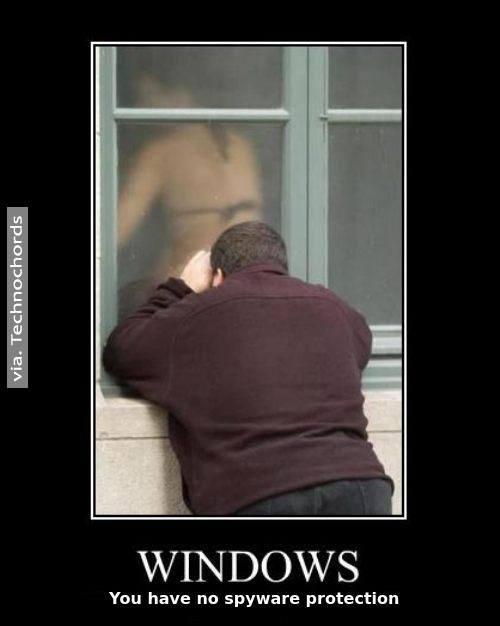Windows no tiene protección de spyware