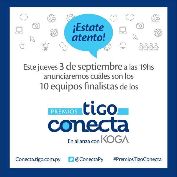 Afiche sobre los 10 finalistas de los Premios Tigo Conecta