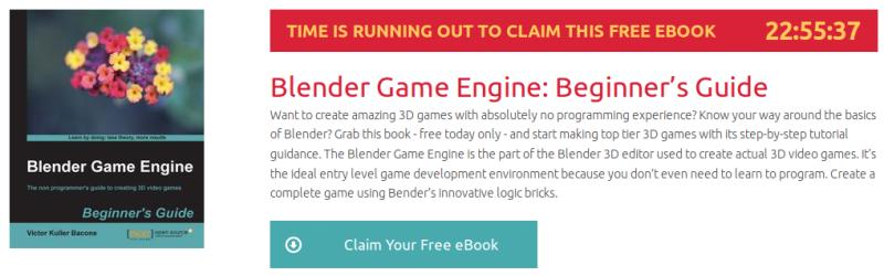 Blender Game Engine: Beginner's Guide, ebook gratuito de packtpub disponible durante las próximas 22 horas