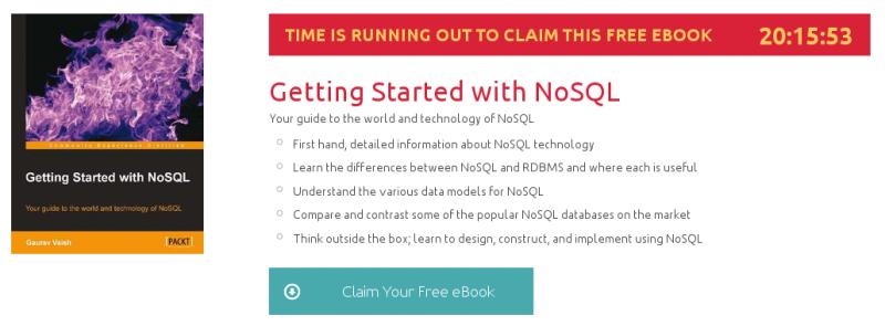 Getting Started with NoSQL, ebook gratuito de packtpub disponible durante las próximas 20 horas