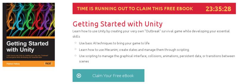 Getting Started with Unity, ebook gratuito de packtpub disponible durante las próximas 23 horas