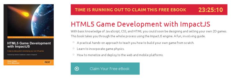 HTML5 Game Development with ImpactJS, ebook gratuito de packtpub disponible durante las próximas 23 horas
