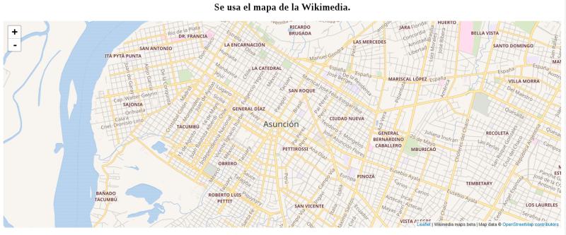 Mapa de la Wikimedia con Leaflet