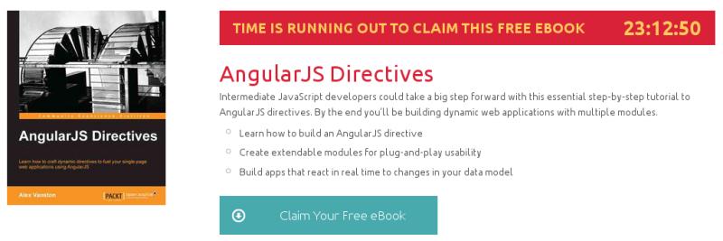 AngularJS Directives, ebook gratuito disponible durante las próximas 23 horas