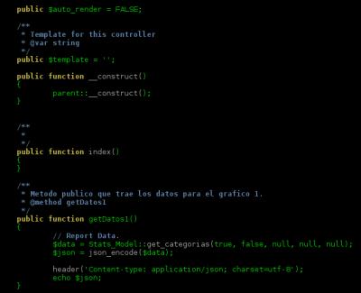 Resaltado de código php en nano